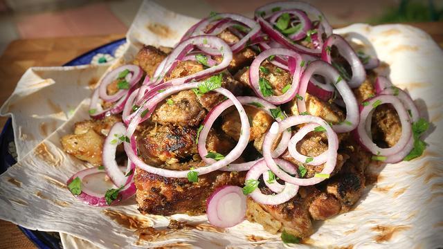 Шашлык из свинины в казане на костре | узбекская кухня – пошаговый рецепт с фотографиями