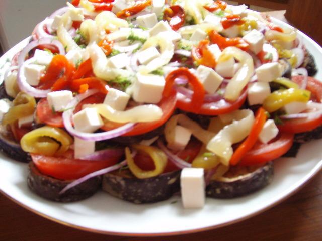 Салат с печенными овошами а-ля греческий – пошаговый рецепт с фотографиями