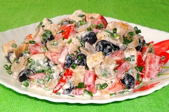 Хлебный салат нотка италии фм ужин за 150 рублей! – пошаговый рецепт с фотографиями