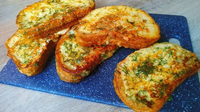 Сочные сырные гренки – пошаговый рецепт с фотографиями