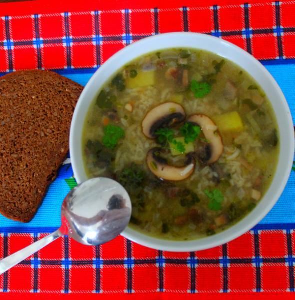 Грибной рассольник с рисом – пошаговый рецепт с фотографиями