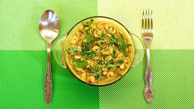 паста с креветками а-ля по-японски – пошаговый рецепт с фотографиями
