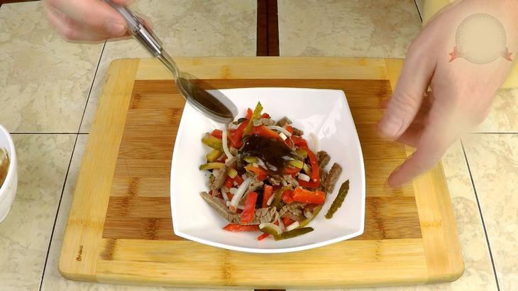 Салат гранатовая соломка – пошаговый рецепт с фотографиями