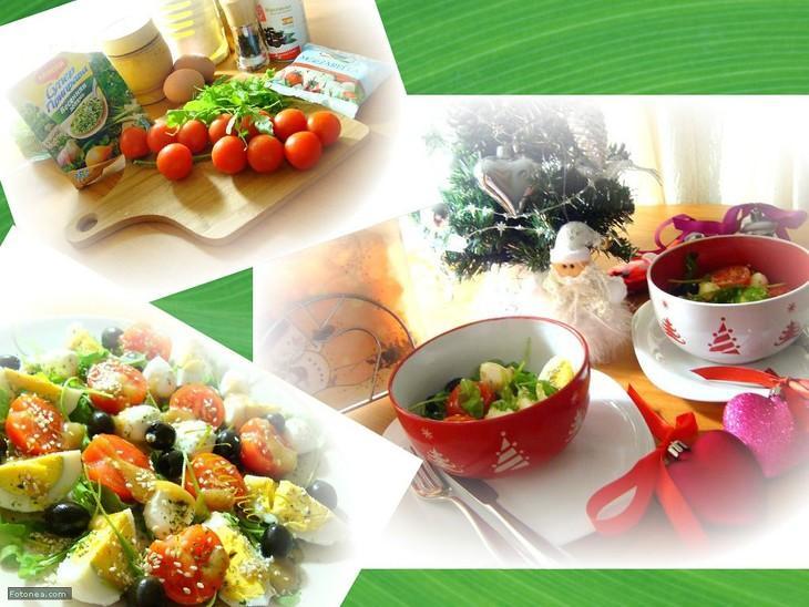 Салат с моцареллой – пошаговый рецепт с фотографиями
