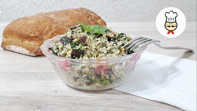 Салат  из баклажанов с кускусом – пошаговый рецепт с фотографиями