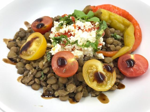 Салат из чечевицы – пошаговый рецепт с фотографиями