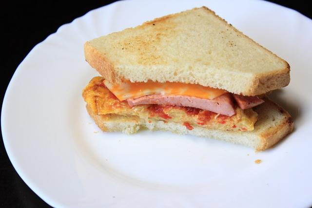 Бутерброд для перекуса в школу или на работу. – пошаговый рецепт с фотографиями