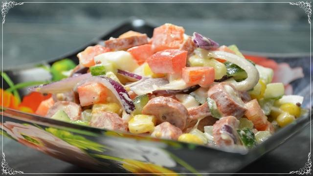 Салат радуга – пошаговый рецепт с фотографиями