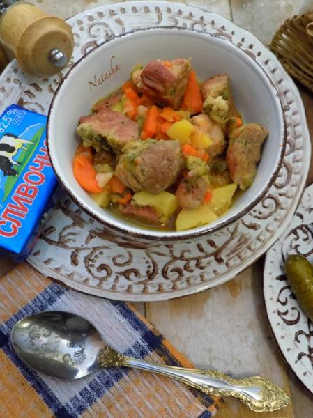 Жаркое с мясом в мультиварке – пошаговый рецепт с фотографиями