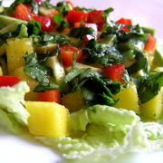 Салат с манго и авокадо в пикантной заправке – пошаговый рецепт с фотографиями