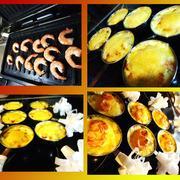 Жюльен из грибов с чесночными креветками + канапе с паштетом грибочек – пошаговый рецепт с фотографиями