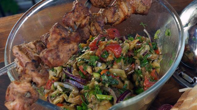Овощной салат на гриле – пошаговый рецепт с фотографиями