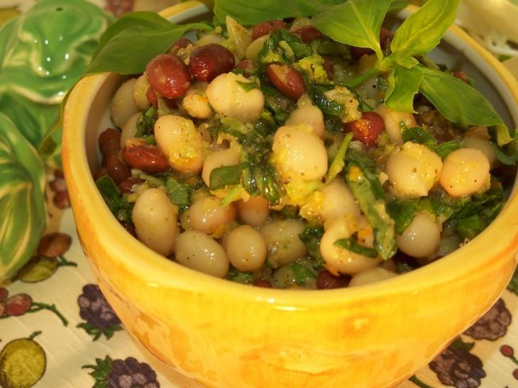 Салат из фасоли с апельсиновой заправкой – пошаговый рецепт с фотографиями