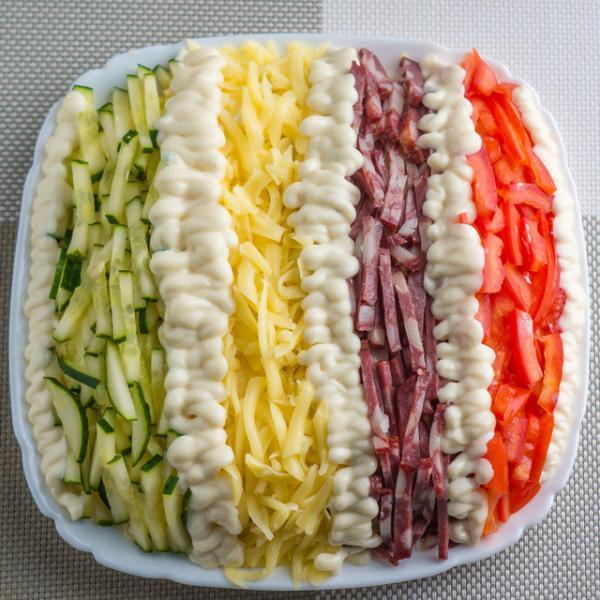 Салат елисейские поля. простой и красивый салат на праздничный стол – пошаговый рецепт с фотографиями