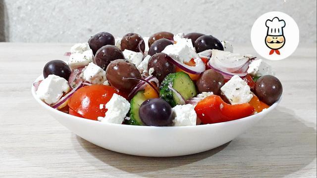 Классический греческий салат – пошаговый рецепт с фотографиями
