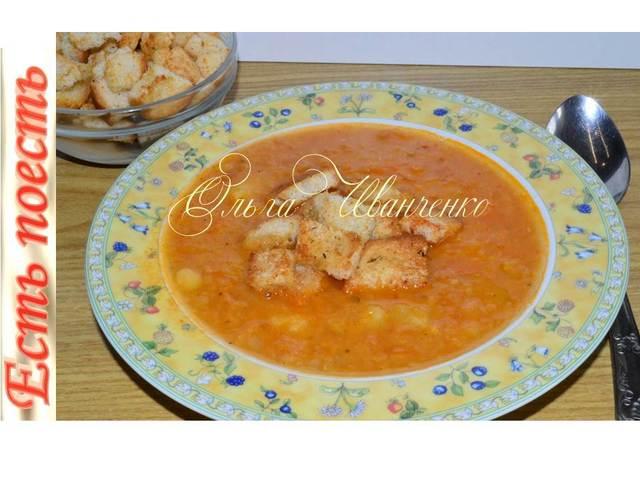 Супчик из чечевицы с сухариками - быстро и сытно – пошаговый рецепт с фотографиями