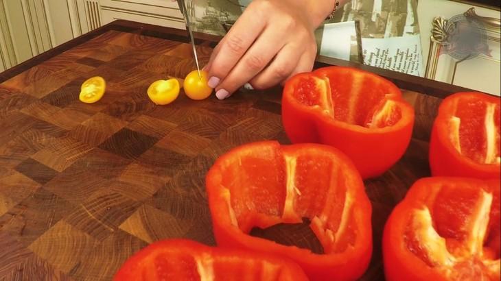 Овощи с мясом в красивой подаче в виде цветка  – пошаговый рецепт с фотографиями
