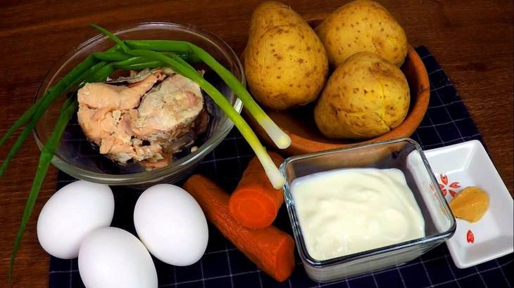 Салат-рулет с горбушей – пошаговый рецепт с фотографиями