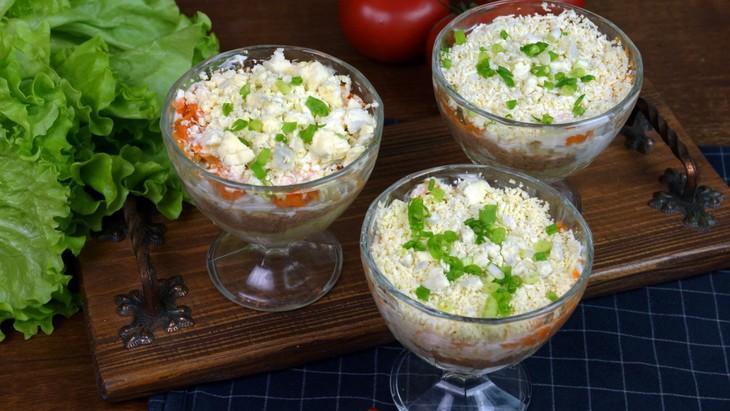 Салат коктейльный  – пошаговый рецепт с фотографиями