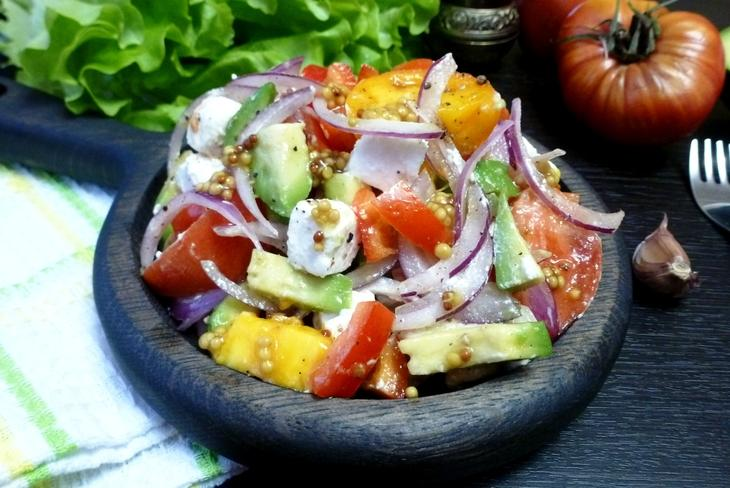 Овощной салат с авокадо и брынзой#россия – пошаговый рецепт с фотографиями