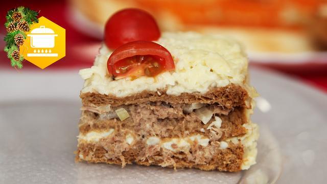 Закусочный пирог  – пошаговый рецепт с фотографиями