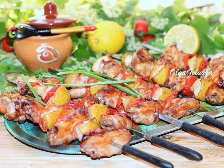 Куриные крылышки с печеными яблоками и соусом#махеевънаприроде – пошаговый рецепт с фотографиями