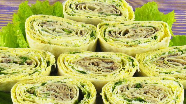 Рулет «мимоза». закуска из лаваша с начинкой на праздничный стол – пошаговый рецепт с фотографиями