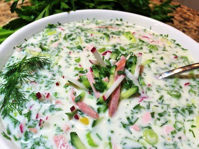 Окрошка. донская кухня.   cold summer soup. – пошаговый рецепт с фотографиями
