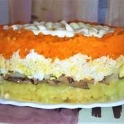 Салат  шпротка слоеный на праздничный стол. – пошаговый рецепт с фотографиями
