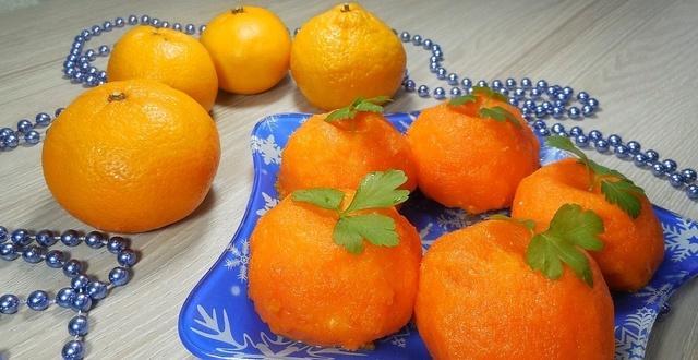 Новогодняя закуска «яркие мандарины» – пошаговый рецепт с фотографиями