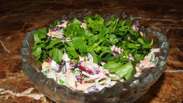Салат с говядиной и фасолью! – пошаговый рецепт с фотографиями