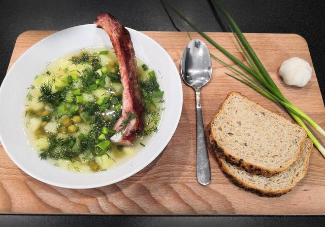 Гороховый суп с копчеными ребрышками – пошаговый рецепт с фотографиями