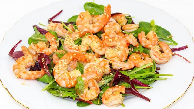 Диетический салат с креветками – пошаговый рецепт с фотографиями
