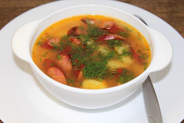 Гороховый суп с колбасками – пошаговый рецепт с фотографиями