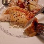 Новогодняя курица в духовке с двумя гарнирами – пошаговый рецепт с фотографиями