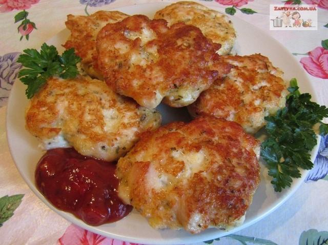 Куриные котлеты с сыром – пошаговый рецепт с фотографиями