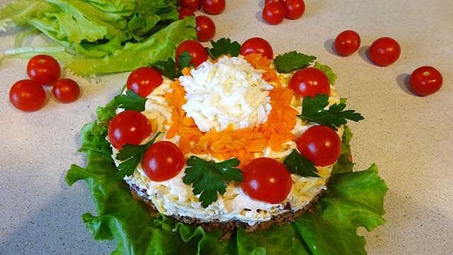 Салат с печенью на новый год – пошаговый рецепт с фотографиями