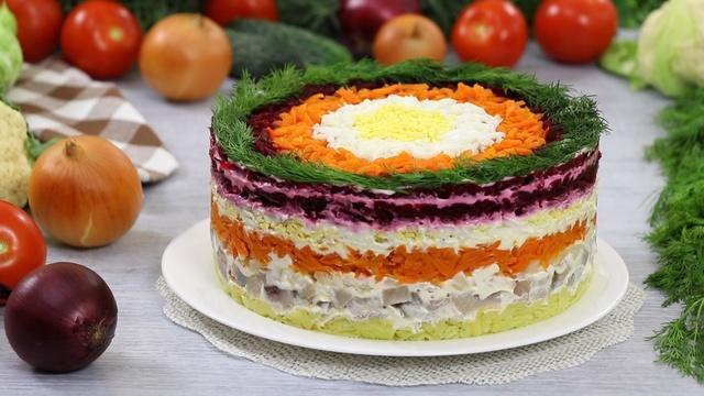 Слоёный салат селёдка под шубой – пошаговый рецепт с фотографиями