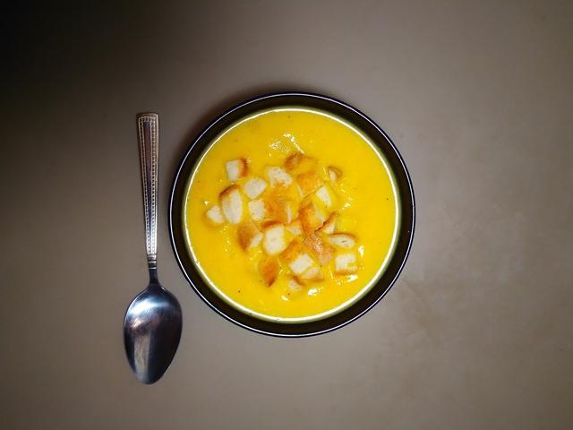 Тыквенный крем суп с кусочками ветчины – пошаговый рецепт с фотографиями