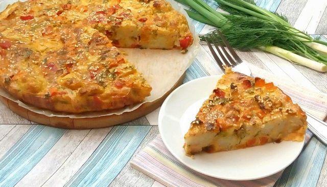 Цветной овощной пирог – пошаговый рецепт с фотографиями