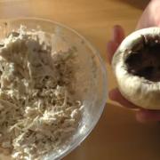Праздничное горячее - фаршированные шампиньоны – пошаговый рецепт с фотографиями