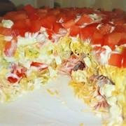Салат с ветчиной и сыром на новый год. – пошаговый рецепт с фотографиями