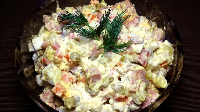 Салат оливье классический советский рецепт – пошаговый рецепт с фотографиями