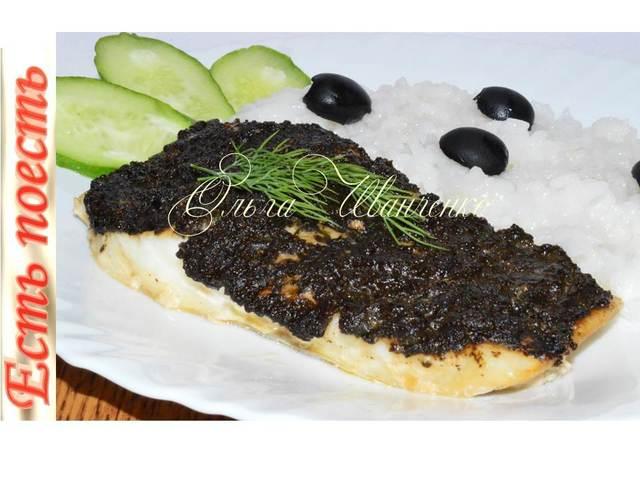 Рыбка под чёрным соусом  – пошаговый рецепт с фотографиями