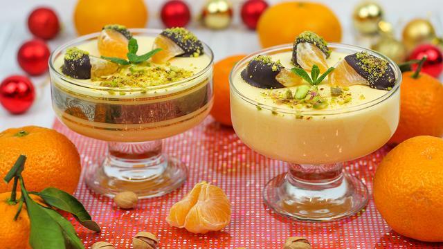 Новогодний мандариновый десерт – пошаговый рецепт с фотографиями