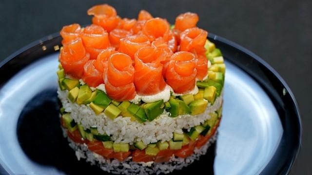 Салат суши – пошаговый рецепт с фотографиями