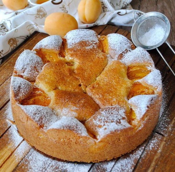 Абрикосовый пирог – пошаговый рецепт с фотографиями