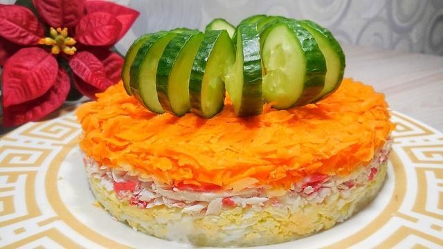 Слоеный салат «нежный бархат» – пошаговый рецепт с фотографиями
