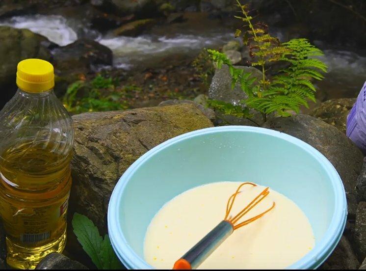 Рецепт нежных блинов на костре