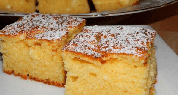 Воздушный пирог с творогом — просто и вкусно на все сто.
